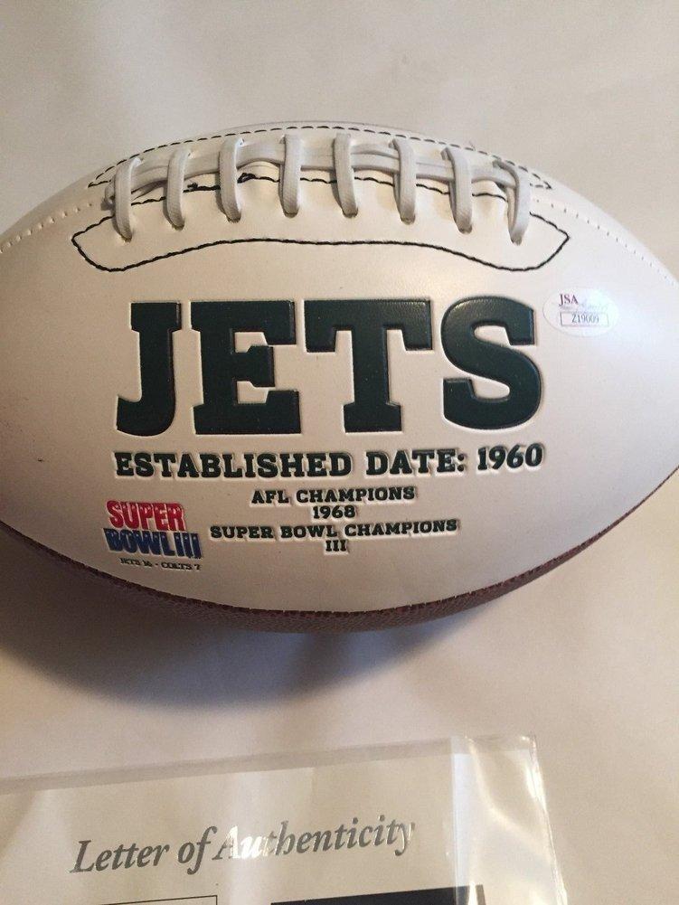 Brett Favre Autographed Signed Full Size New York Jets Logo Football JSA  LOA. Loading Images...  329.99 Price e189a8f51
