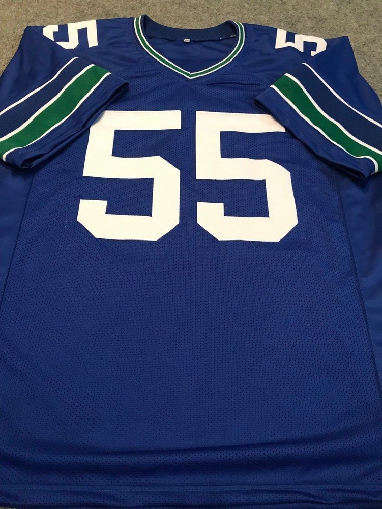 low priced 708a5 7605e Brian Bosworth Autographed Signed Seattle Seahawks Jersey ...