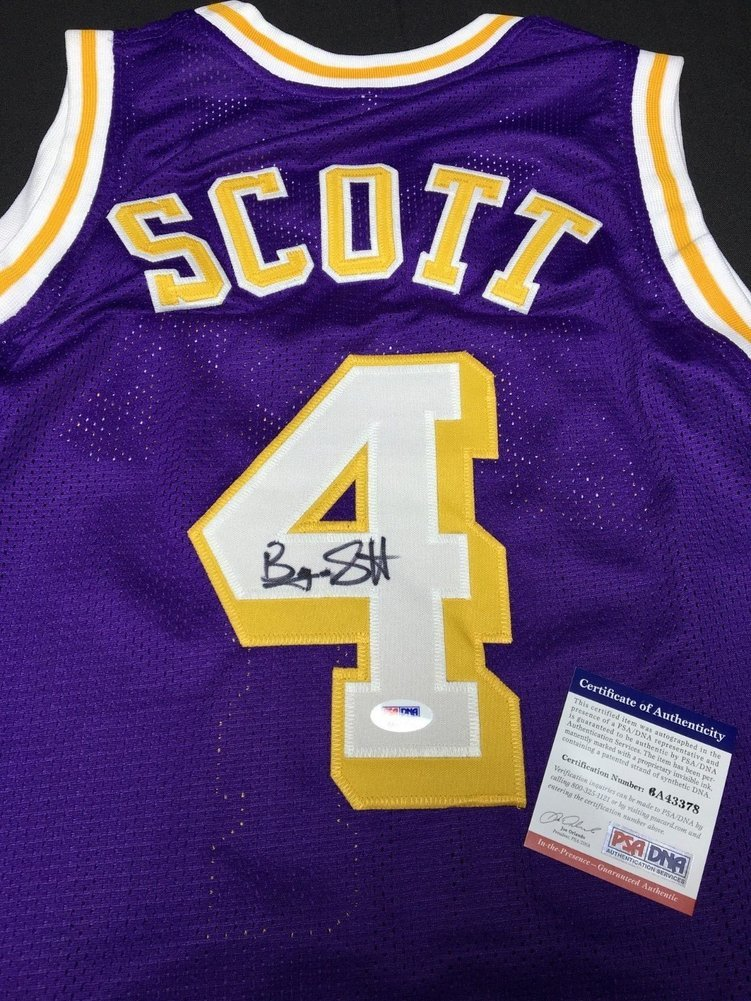 0f6a533ed5f Byron Scott Autographed Signed Purple Los Angeles Lakers Basketball Jersey  Memorabilia PSA DNA 6A43378. Loading Images...  227.99 Price