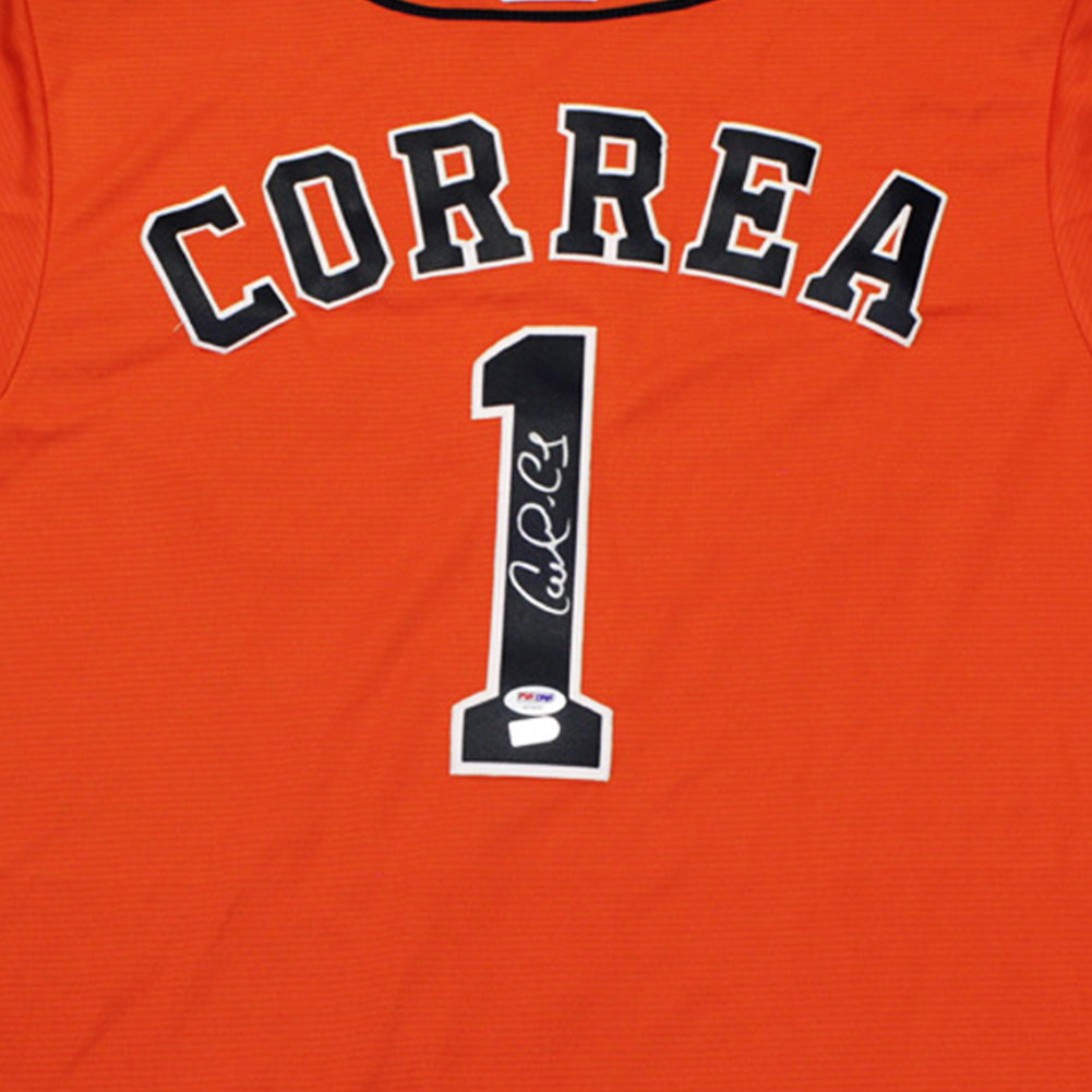 Carlos Correa Autographed Signed Houston Astros Orange Baseball Jersey - PSA/DNA Authentic Image a