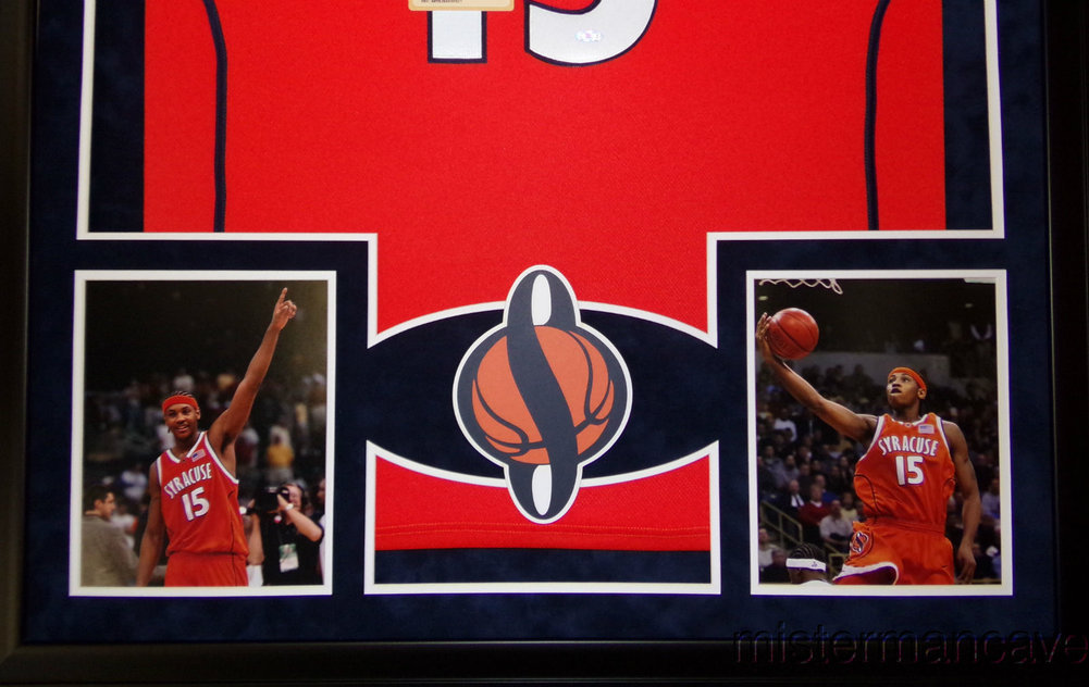 184f82489d45 promo code for carmelo anthony syracuse jersey 69009 38e52  czech carmelo  anthony framed jersey autographed signed steiner coa 3315c f730a