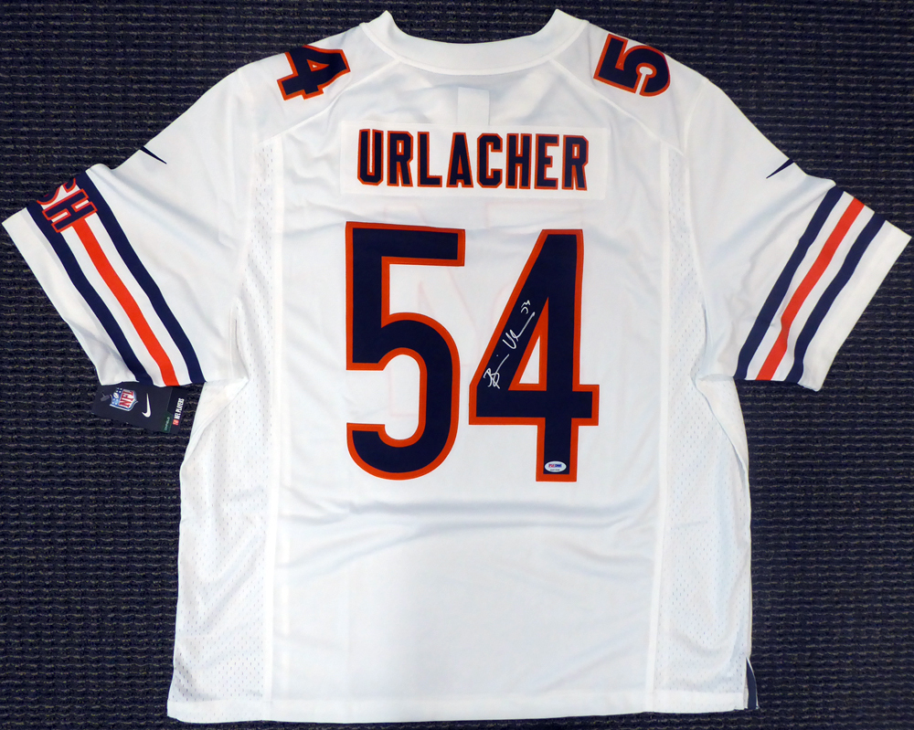 best sneakers 2dd7c bab0d Chicago Bears Brian Urlacher Autographed Signed White Nike ...
