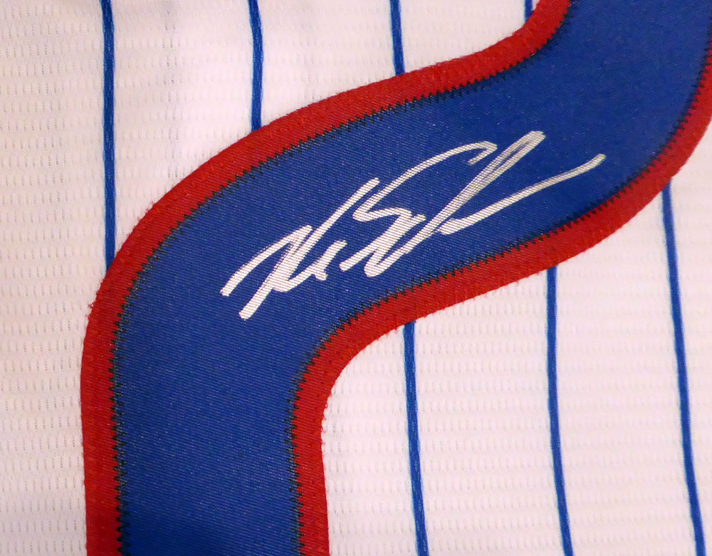 f3ae81ecfd5 Chicago Cubs Kyle Schwarber Autographed Signed White Majestic Cool Base  Jersey With 2016 World Series Patch Size L - Beckett Authentic. Loading  Images.