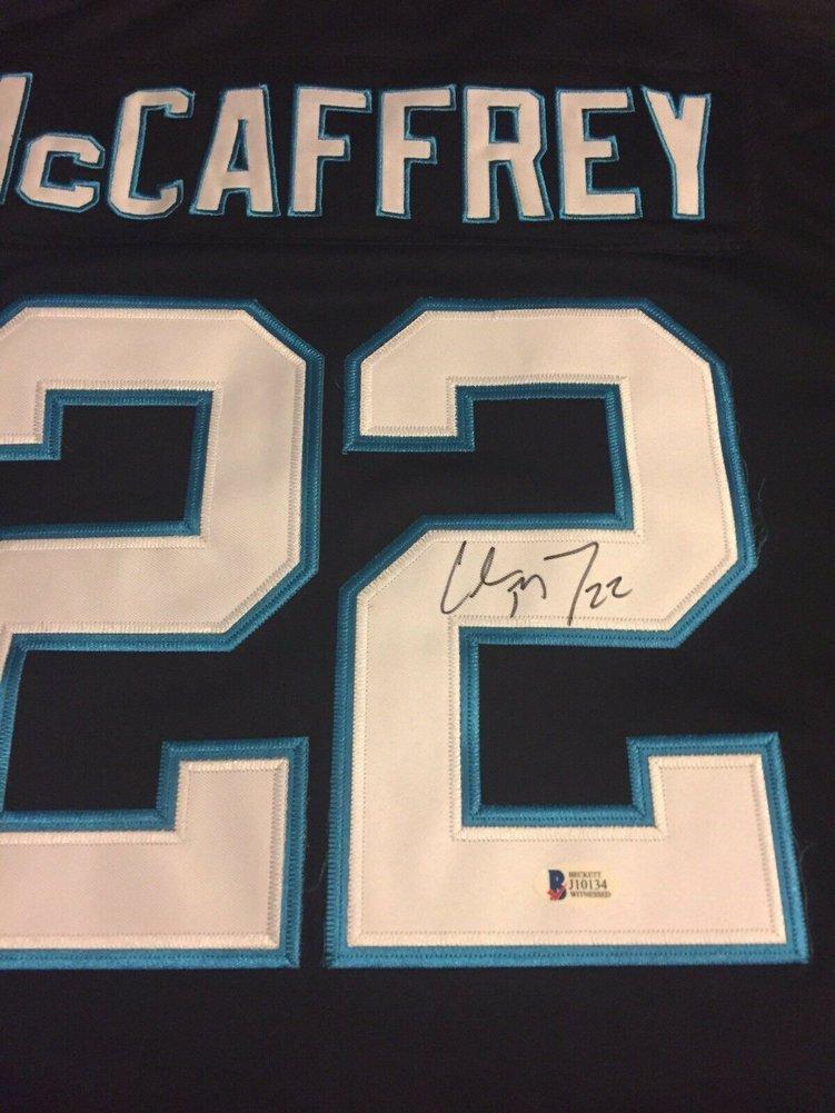 fd6208a5f9c Christian Mccaffrey Autographed Signed Carolina Panthers Jersey ...