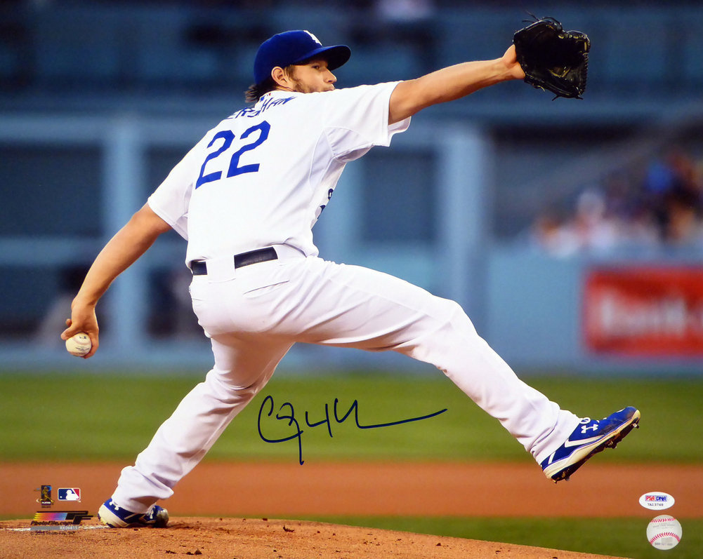 Clayton Kershaw Autographed Signed Framed 16x20 Photo Los Angeles Dodgers PSA/DNA Image a