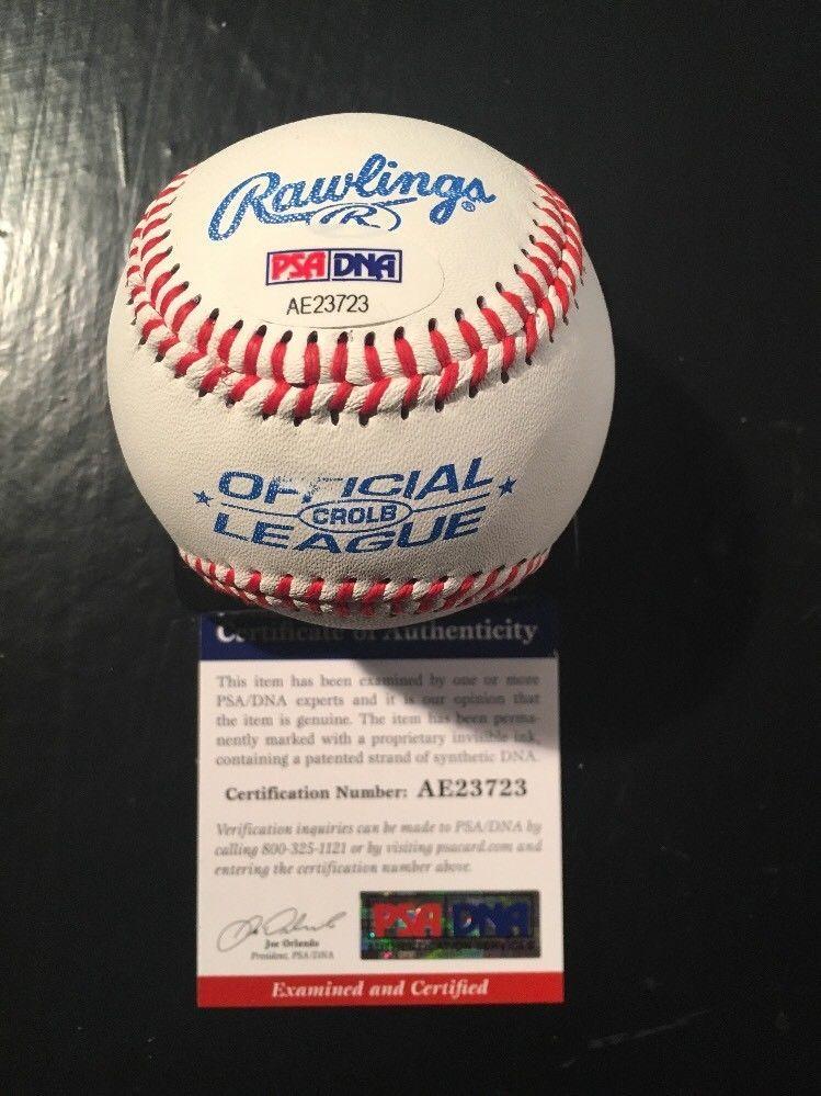 Clayton Kershaw Dodgers Auto Autographed Signature Baseball Ball Psa