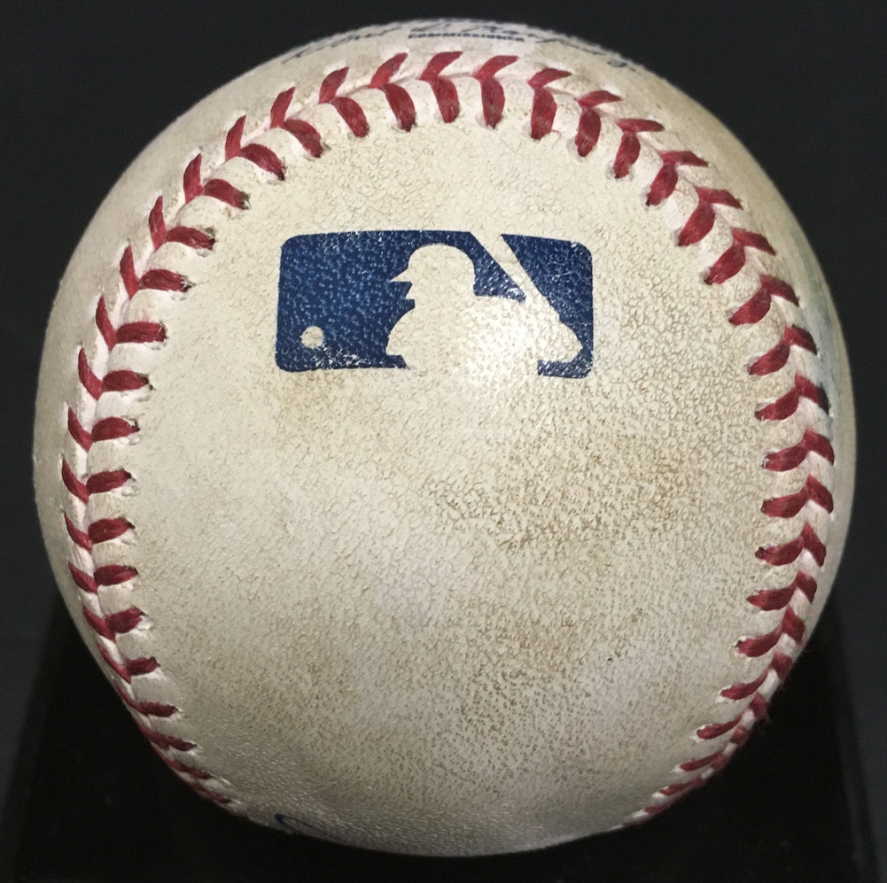 Clint Frazier Autographed Signed Game Used MLB Baseball