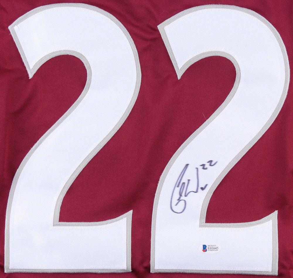 promo code 7d8d7 545a0 Colin Wilson Autographed Signed Avalanche Jersey Beckett ...