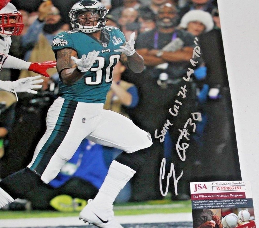 Corey Clement Autographed Signed 16x20 Philadelphia Eagles Photo with  Inscription 3 JSA. Loading Images...  269.99 Price 6b7f541e7