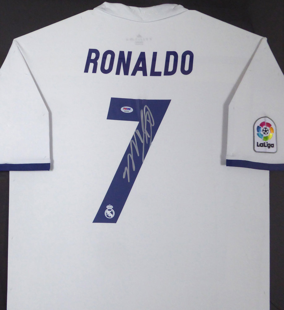 on sale d51cf 67588 Cristiano Ronaldo Autographed Signed Framed Real Madrid Fly ...