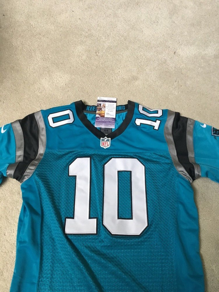 11d32bd9a Curtis Samuel Carolina Panthers Autographed Signed Football Jersey ...