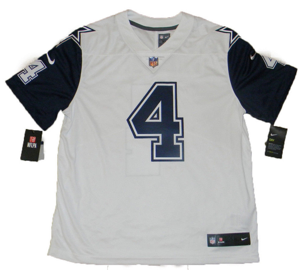 f778cd59aff ... purchase shirt where to buy dak prescott autographed dallas cowboys 4 nike  limited color rush jersey
