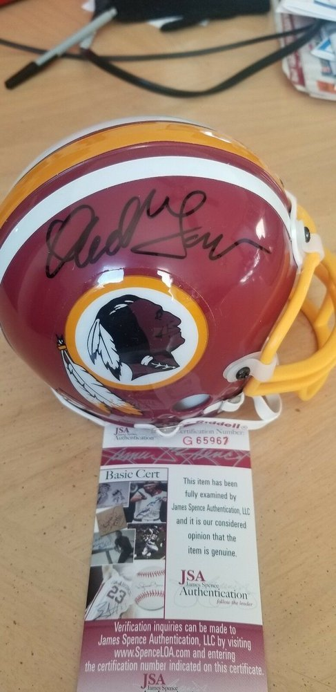a225f918 Darrell Green Autographed Signed Washington Redskins Hof Mini Helmet ...
