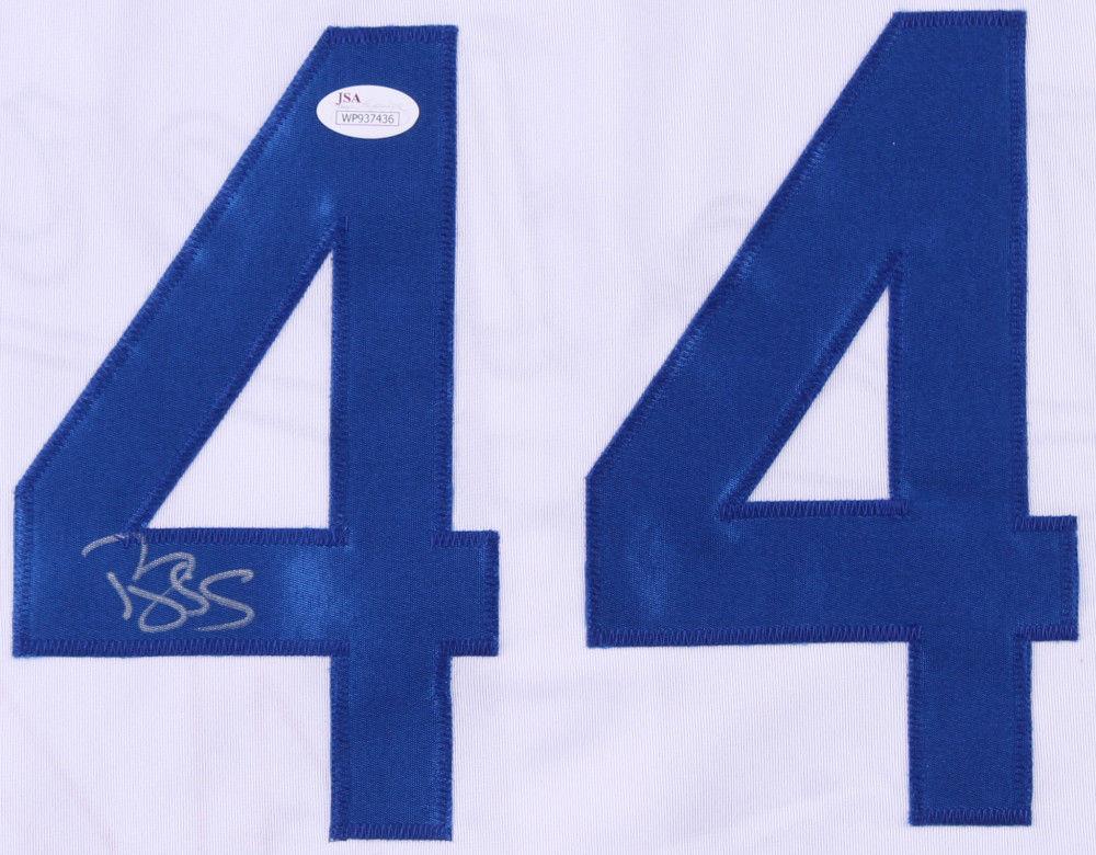 half off c8d27 01603 Darryl Strawberry Autographed Signed Los Angeles Dodgers ...