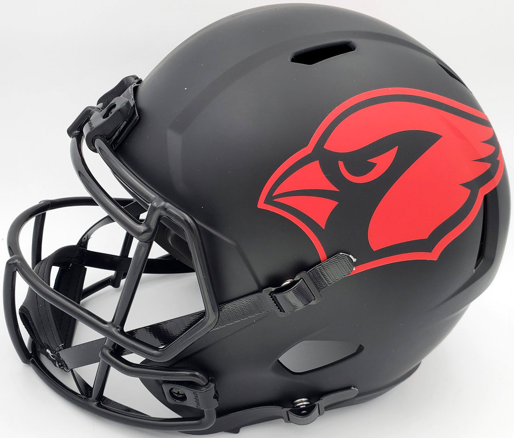 DeAndre Hopkins Autographed Signed Arizona Cardinals Eclipse Black Full Size Replica Speed Helmet Beckett BAS Image a