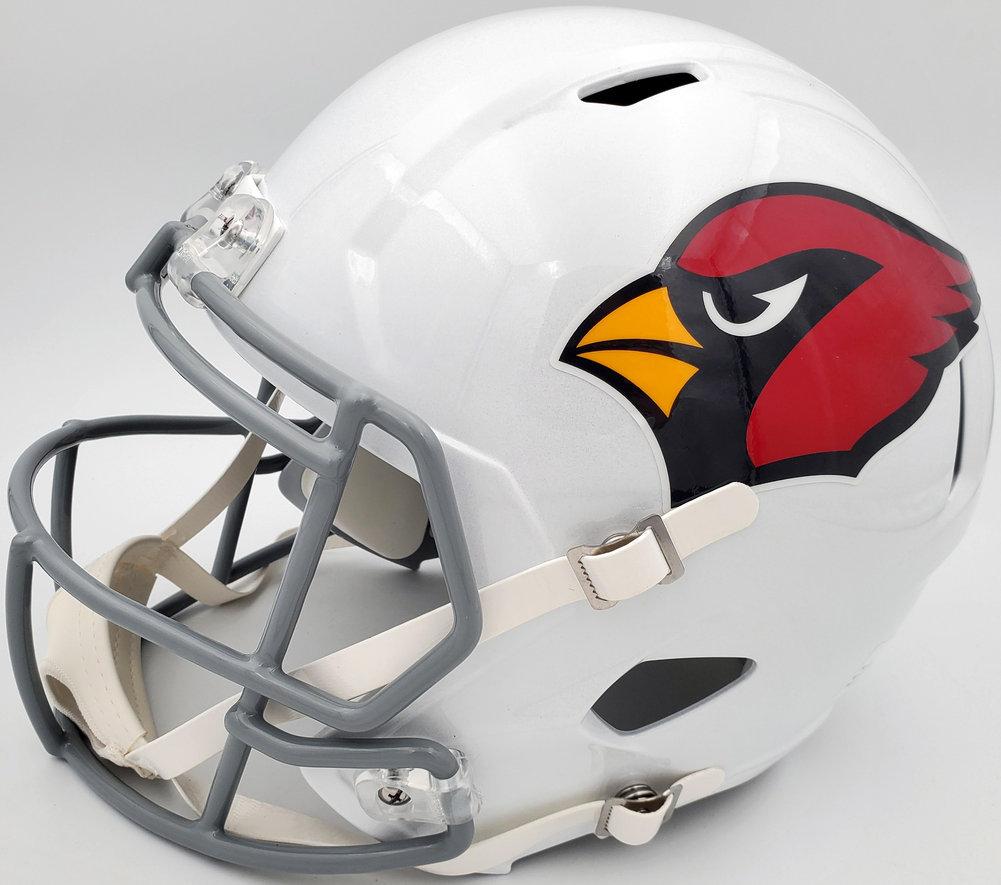 DeAndre Hopkins Autographed Signed Arizona Cardinals White Full Size Replica Speed Helmet Beckett BAS QR Image a