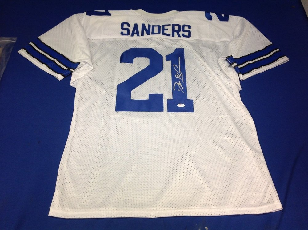 huge discount ee3a7 c5038 Deion Sanders Autographed Signed Dallas Cowboys Jersey ...