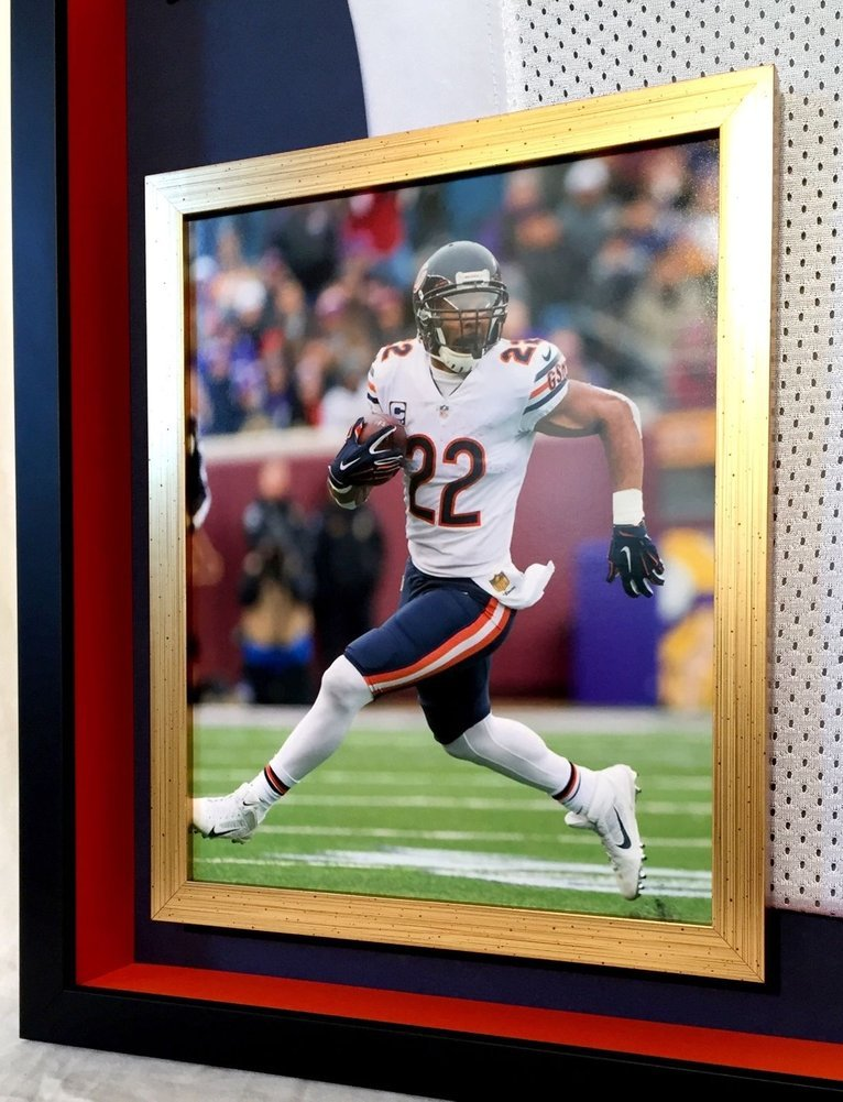 a6bcc1a3f3a Deluxe Framed Matt Forte Autographed Signed Chicago Bears Official Reebok  Jersey Memorabilia - PSA/DNA Authentic. Loading Images... $1457.99 Price