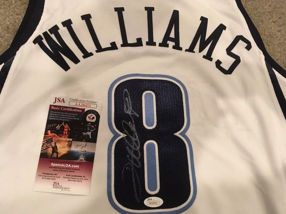 ... Deron Williams Autographed Signed Memorabilia Authentic Jersey Nets  Jazz Game Issued JSA Image a ... 0e726e01c