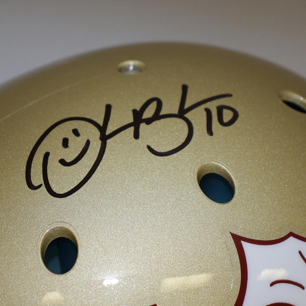 Derrick Brooks FSU Seminoles Autographed Signed Full Size Schutt Authentic Gold Helmet - PSA/DNA Authentic Image a