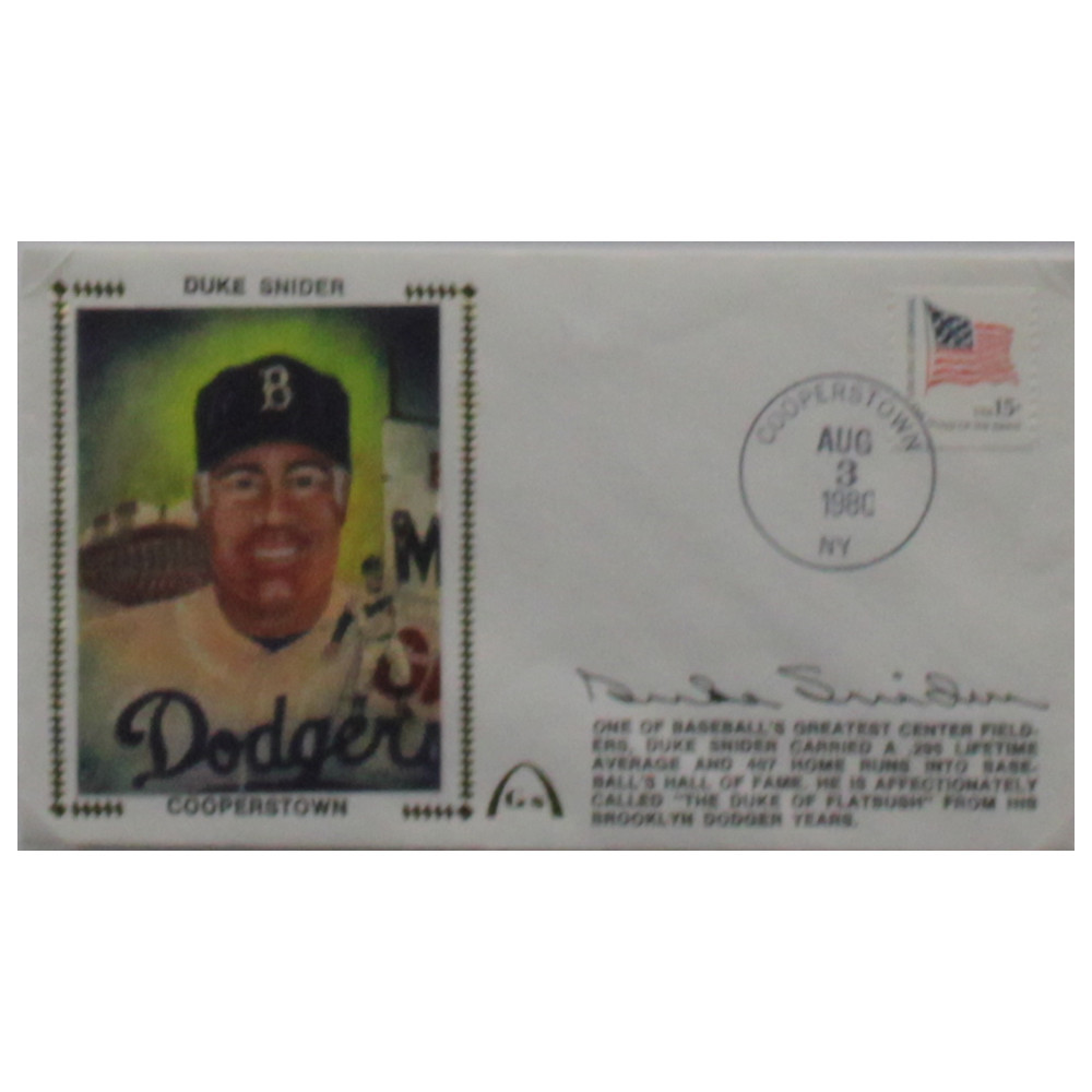 Duke Snider Autographed Signed Framed First Day Cover - Certified Authentic Image a