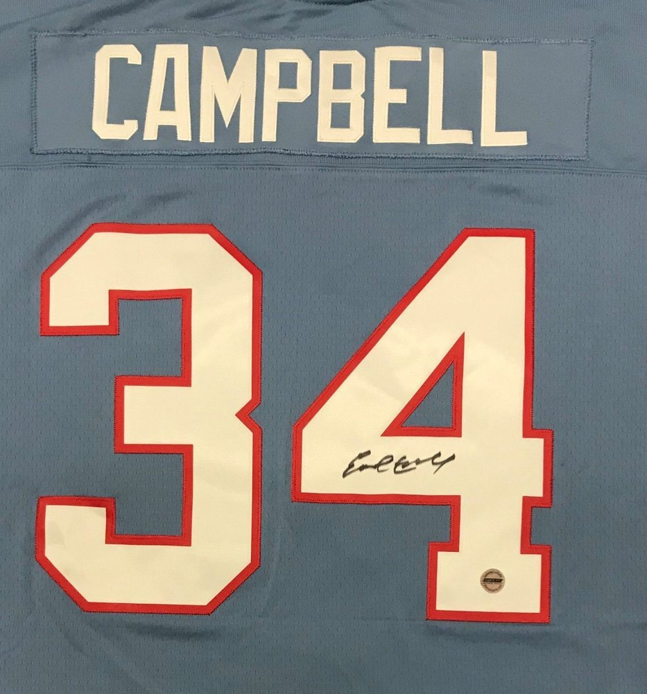 6a31366b ... Earl Campbell Autographed Signed Houston Oilers Mitchell & Ness Jersey  Fsg Image a ...