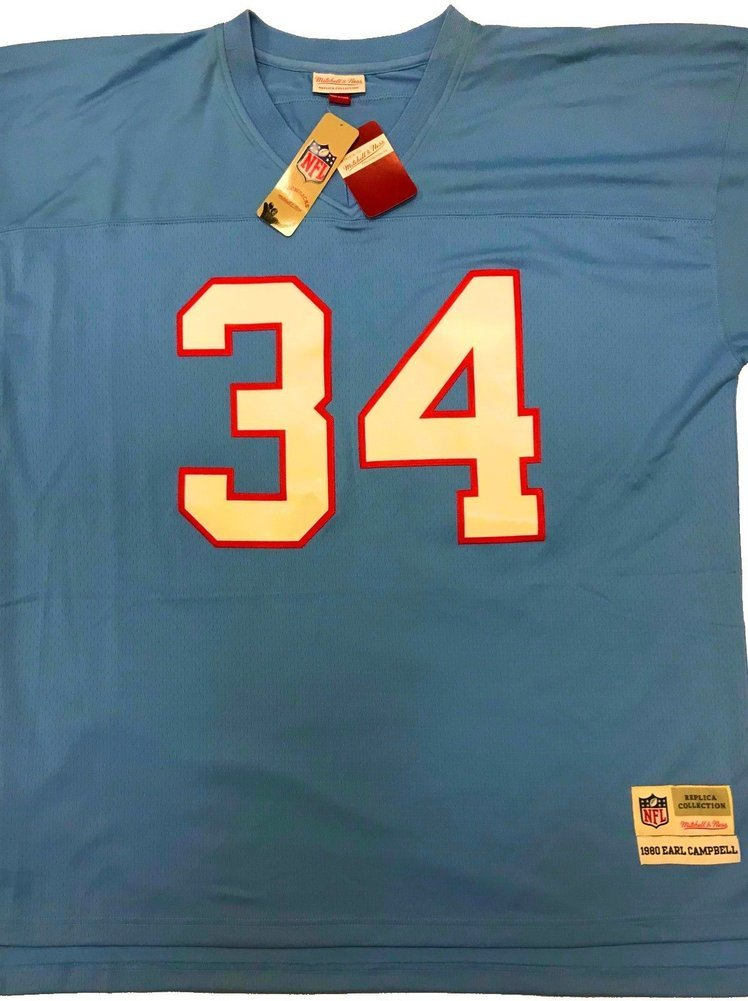 wholesale dealer 08326 bedde Earl Campbell Autographed Signed Houston Oilers Mitchell ...