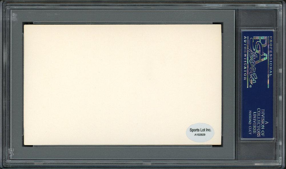 Eddie Ainsmith Autographed Signed 3x5 Index Card Washington Senators PSA/DNA #83860255 Image a