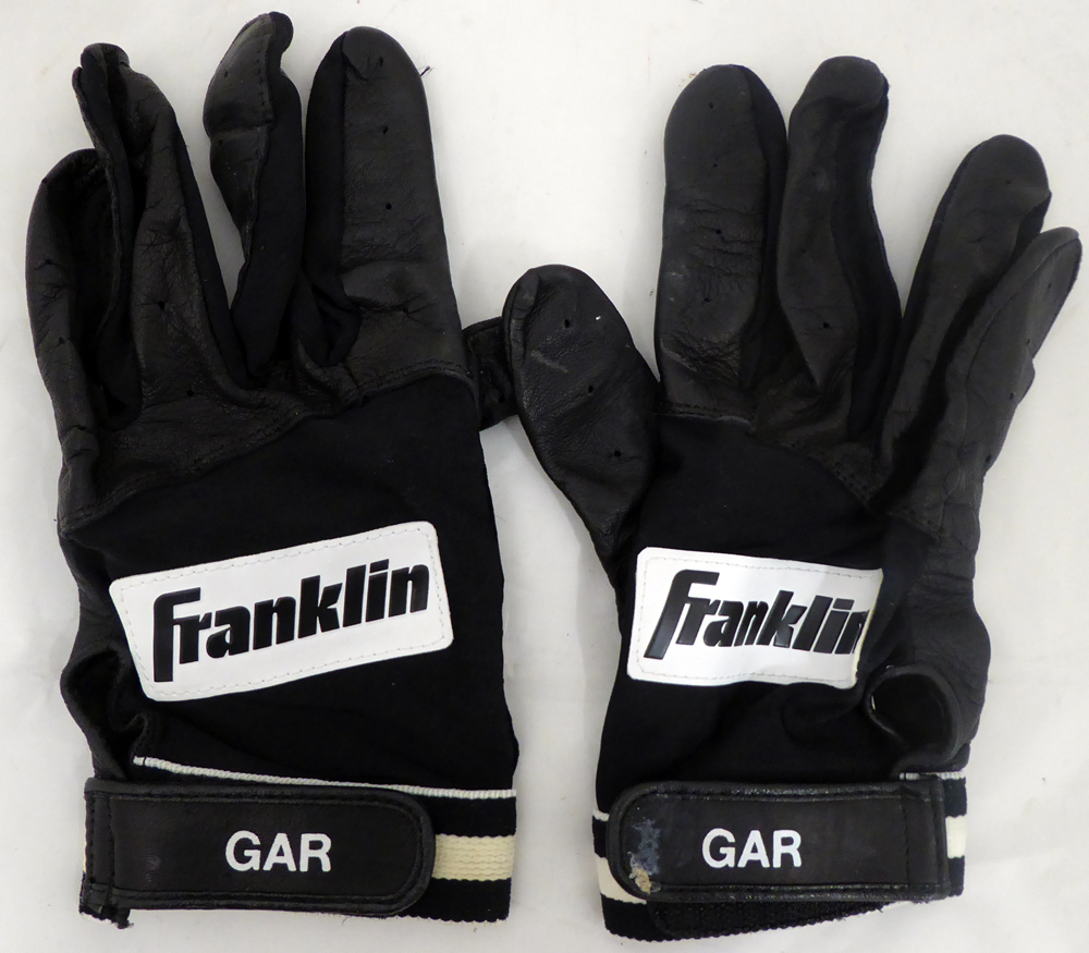 Edgar Martinez Autographed Signed Pair of Game Used Franklin Batting Gloves with Signed Certificate - Certified Authentic Image a