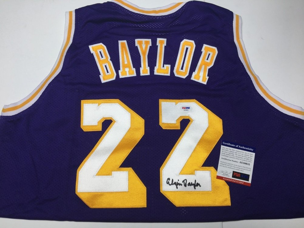 4ab2369edd98 Elgin Baylor Autographed Signed Autograph Los Angeles Lakers Basketball Jersey  Hof PSA DNA Ae30632. Loading Images...  532.99 Original