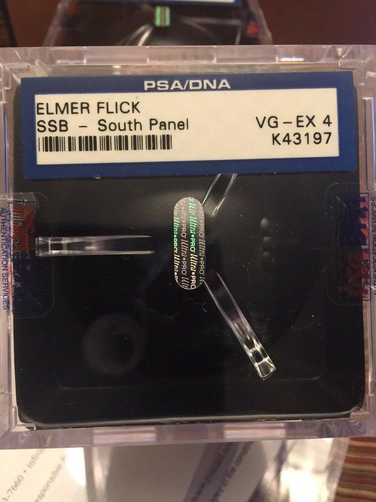 Elmer Flick Autographed Signed Single Baseball PSA DNA Signature HOF Ex Image a
