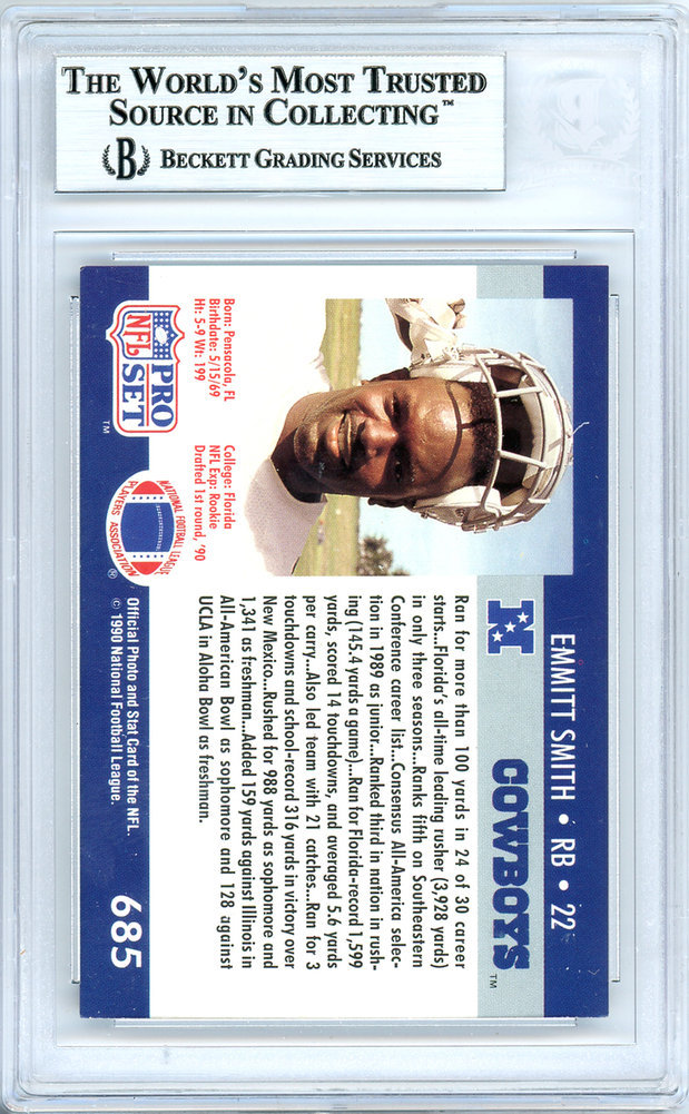 Emmitt Smith Autographed Signed 1990 Pro Set Rookie Card