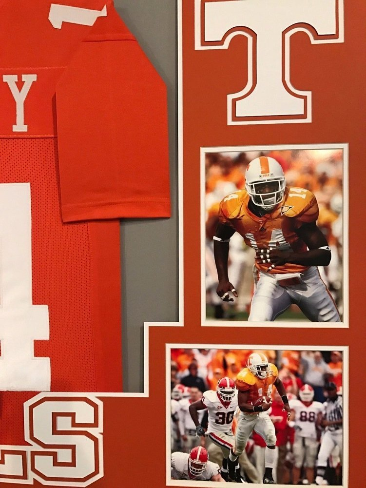 san francisco 05719 5c3dd Eric Berry Autographed Signed Custom Framed Tennessee ...