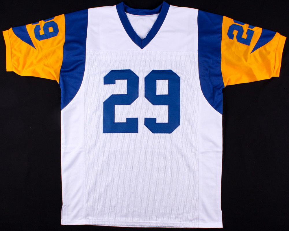 5a02e7ad6 Eric Dickerson Autographed Signed Rams Throwback Jersey Inscribed Hof 99 -  JSA Certified. Loading Images...  385.99 Price