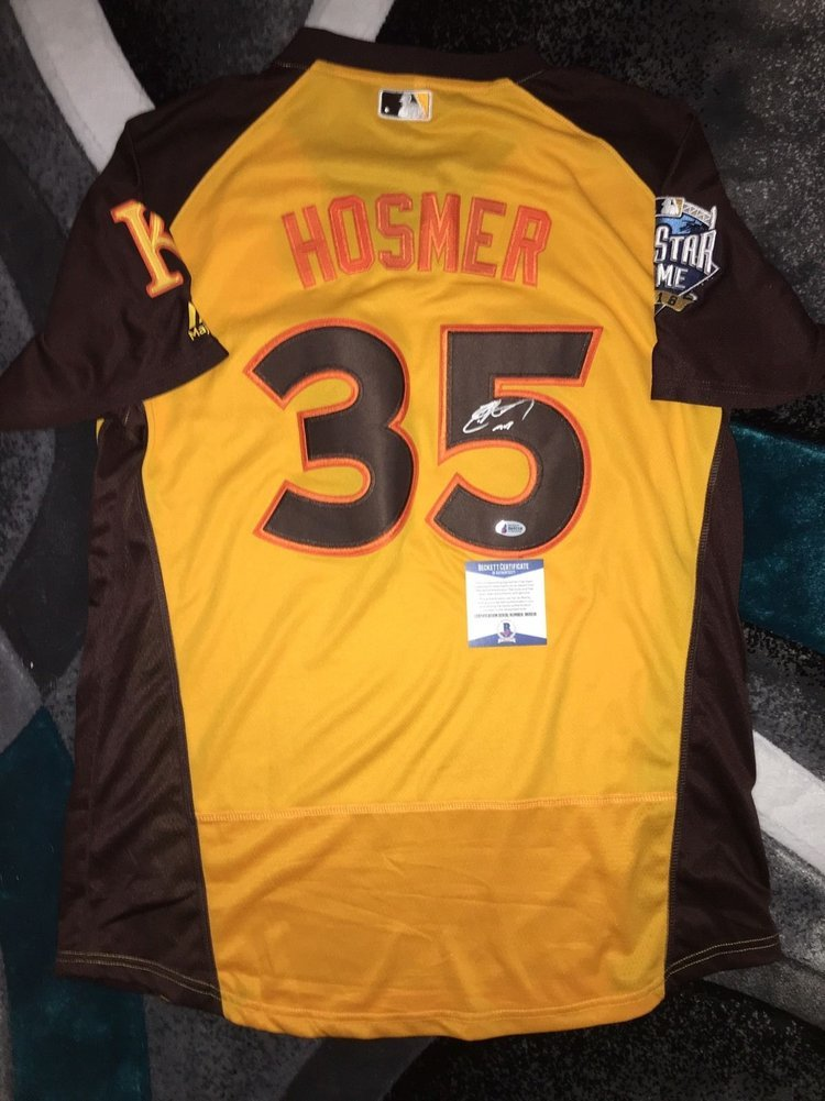 super popular 0e2bd b0b45 Eric Hosmer Autographed Signed/Auto 2016 All Star Jersey ...