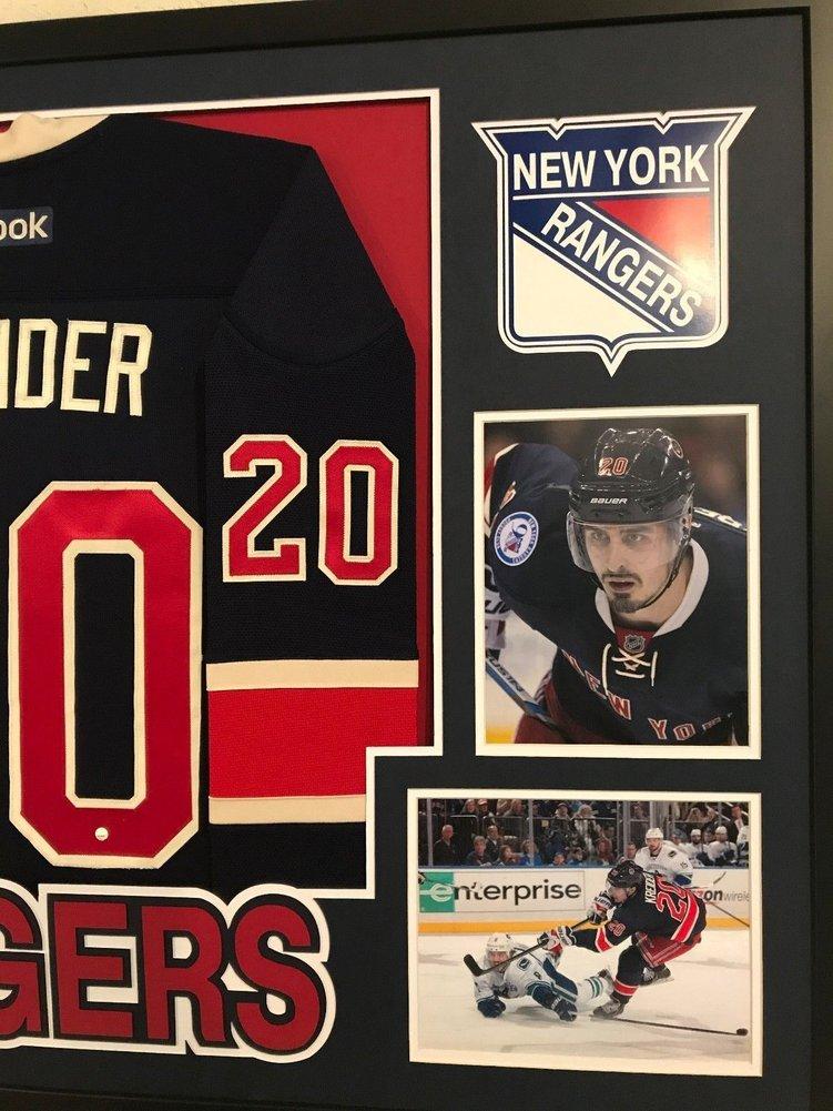 hot sale online 60a41 c282b Framed Chris Kreider Autographed Signed N.Y. Rangers Jersey ...