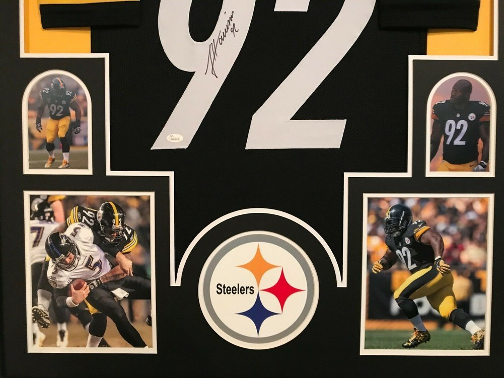 more photos fec2b eed42 Framed James Harrison Autographed Signed Pittsburgh Steelers ...