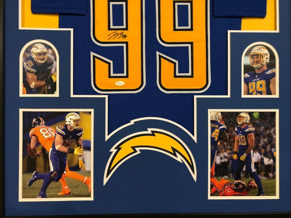huge selection of c34b6 1e9af Framed San Diego Chargers Joey Bosa Autographed Signed ...