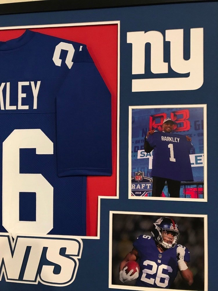 purchase cheap 76117 ce01a Framed Saquon Barkley Autographed Signed New York Giants ...