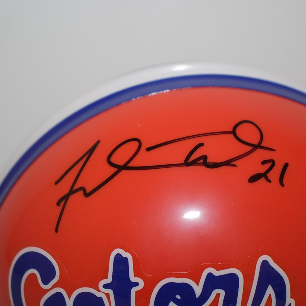 Fred Taylor Florida Gators Authographed Riddell Mini Helmet - PSA/DNA Authentic Image a