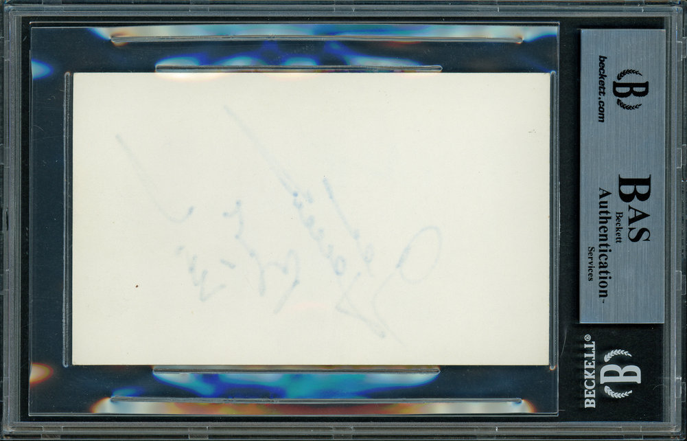 George Hamilton Autographed Signed 3x5 Index Card Actor Best Wishes Beckett BAS 11484752 Image a