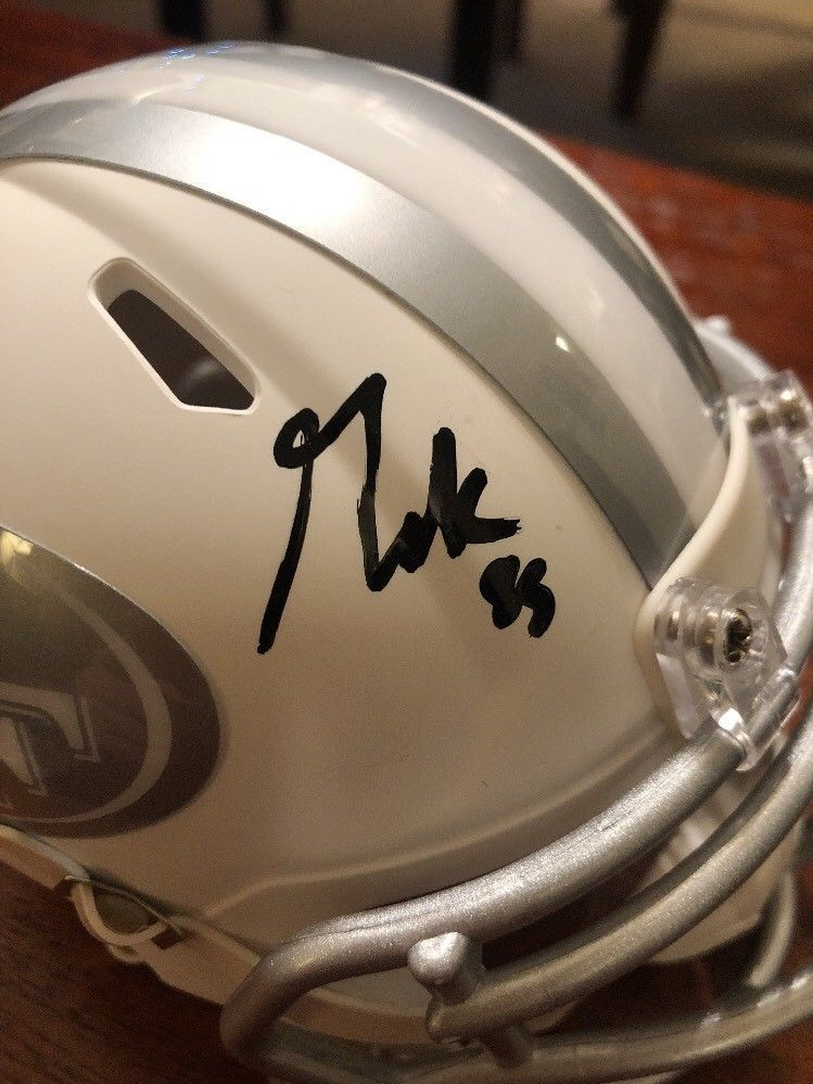 bd0c5f721 George Kittle Autographed Signed San Francisco 49ers Mini Ice Helmet  Beckett Authentic Bas COA Auto. Loading Images...  441.99 Price