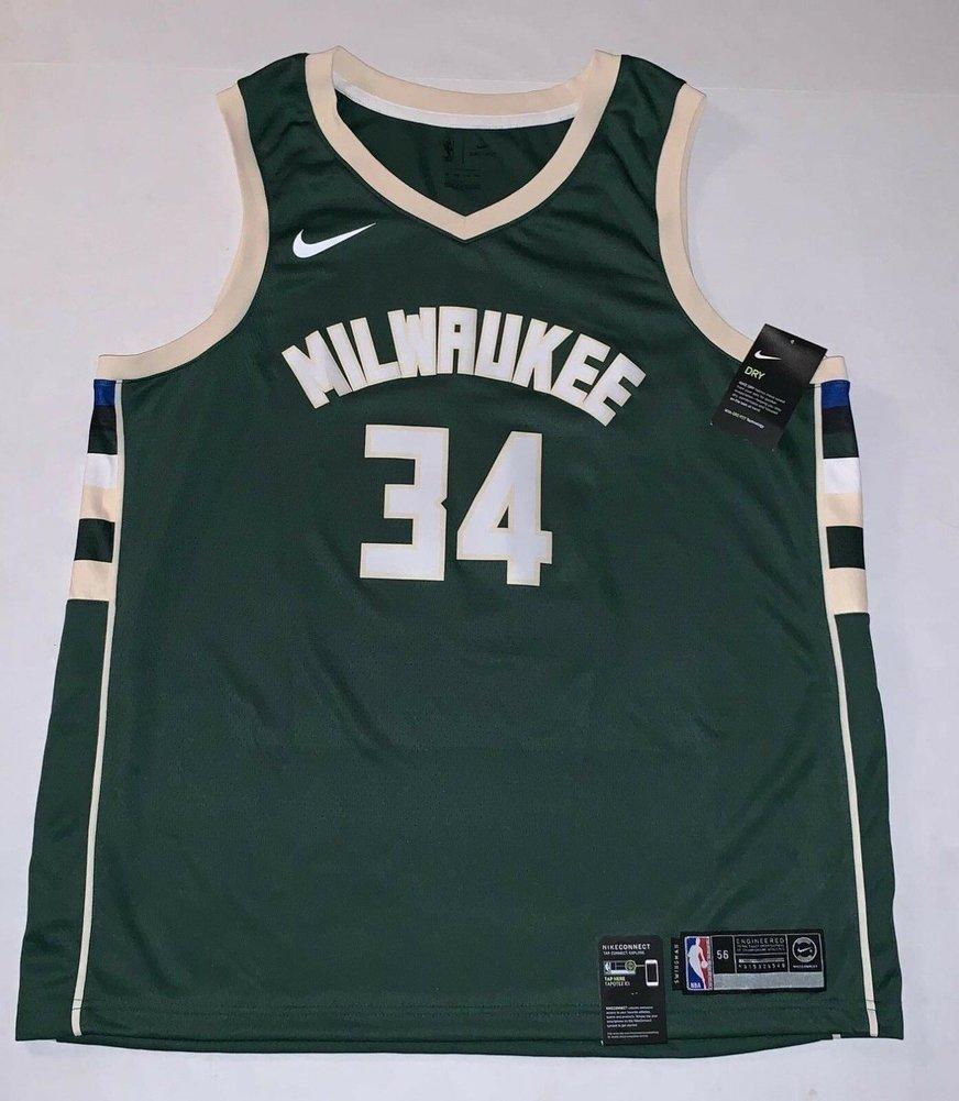 3b1e688ca Giannis Antetokounmpo Autographed Signed Memorabilia Milwaukee Bucks  Official Nike Swingman Jersey JSA. Loading Images...  810.99 Price