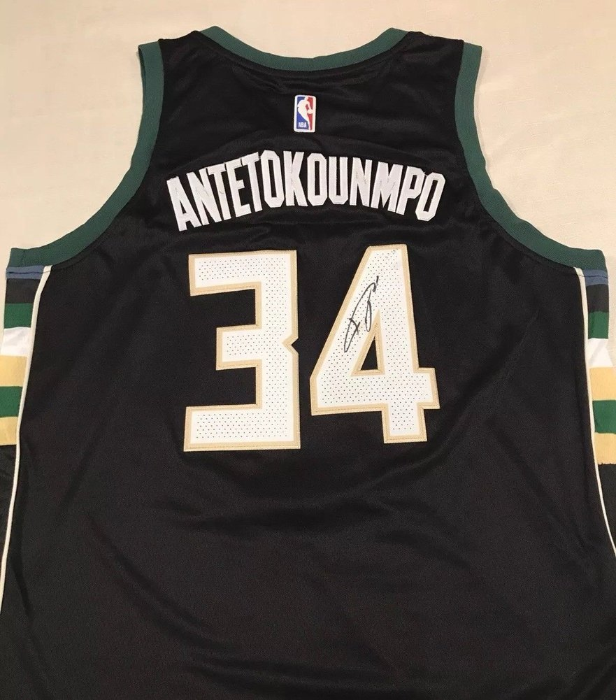 ae98143f387 Giannis Antetokounmpo Milwaukee Bucks Autographed Signed Jersey Size L  Memorabilia JSA COA. Loading Images...  754.99 Price