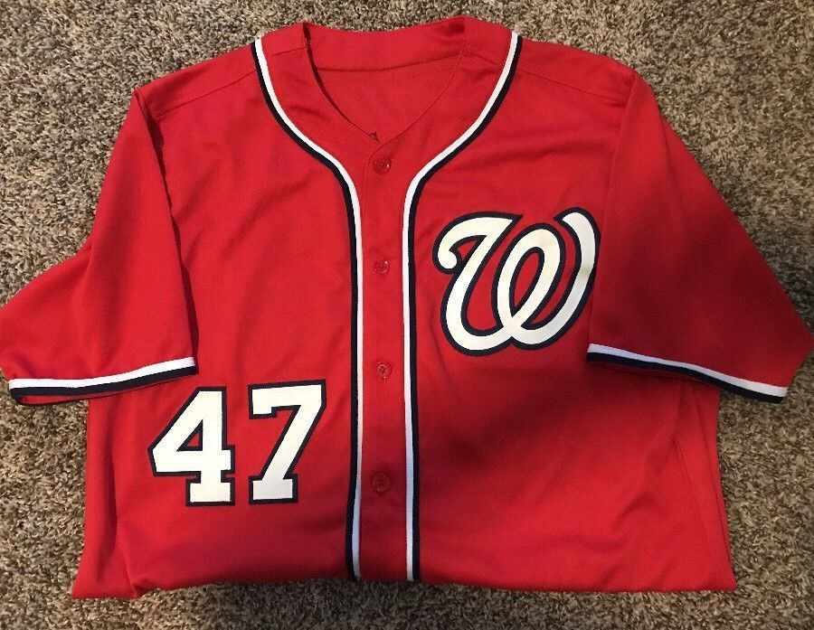 the best attitude e1279 9c3d6 Gio Gonzalez Washington Nationals Red Autographed Signed ...