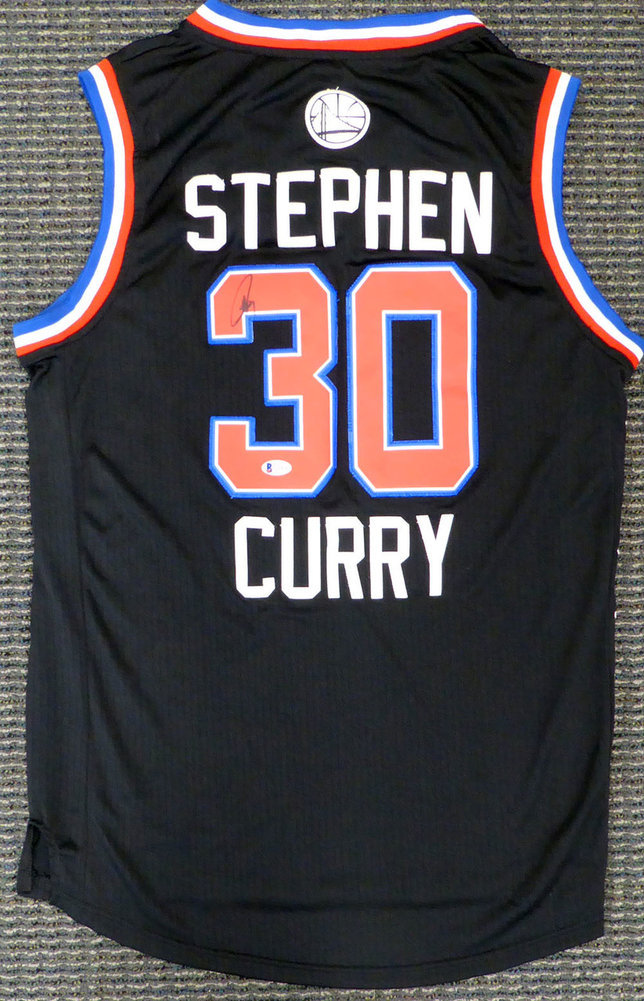 new arrival 1621f ed4f4 Golden State Warriors Stephen Curry Autographed Signed Auto ...