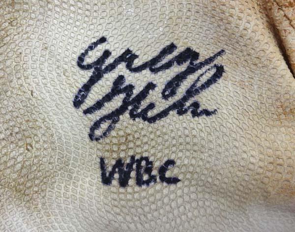 Greg Halman Autographed Signed Game Used Franklin Batting Gloves WBC - PSA/DNA Certified Image a