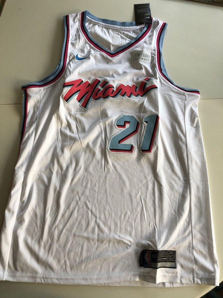 official photos 22efe cb9a2 Hassan Whiteside Autographed Signed Miami Vice Heat Jersey ...