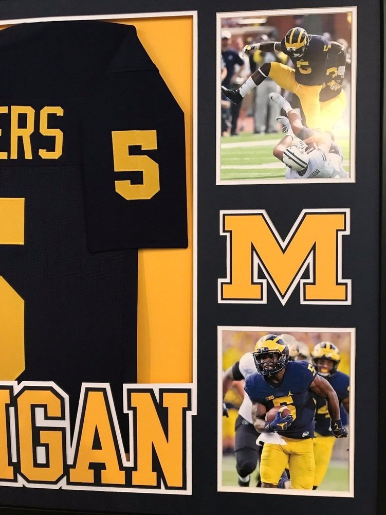 promo code c40ed 7dbc0 Jabrill Peppers Autographed Signed Custom Framed Michigan ...
