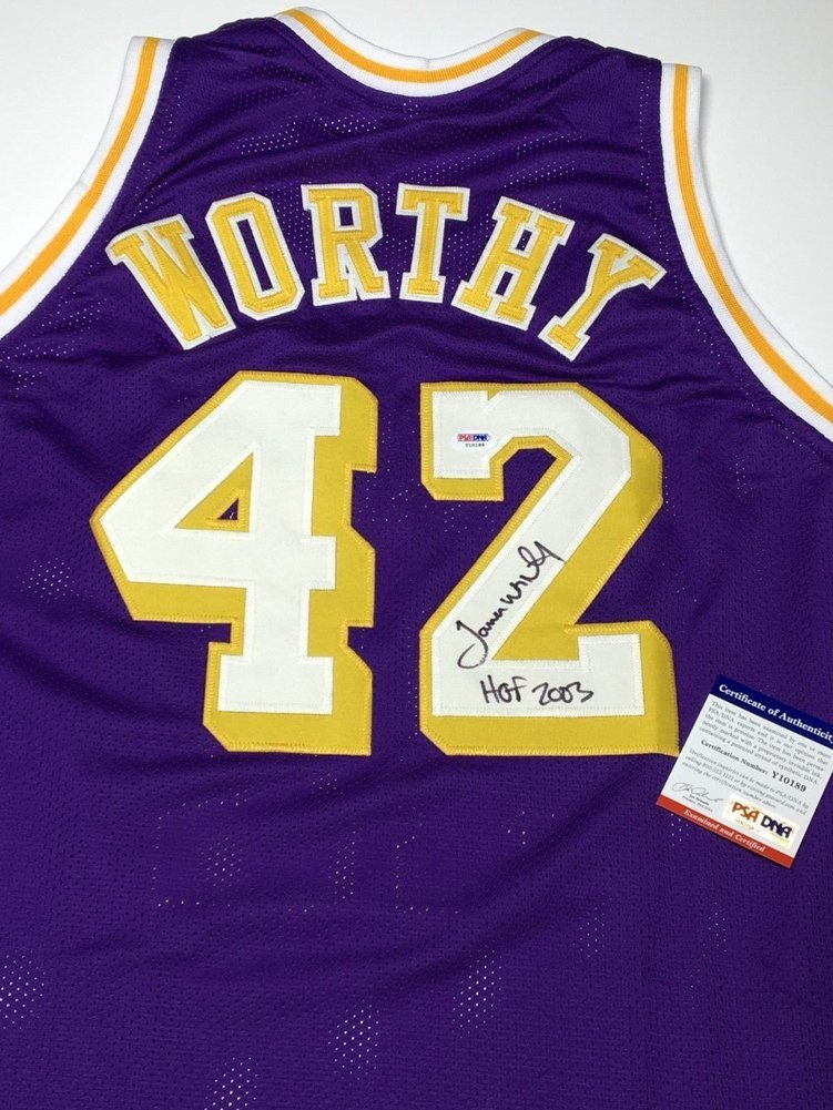 f14f4809133 James Worthy Autographed Signed Autograph Los Angeles Lakers Basketball  Jersey Hof 2003 PSA/DNA Y10189. Loading Images... $322.99 Price